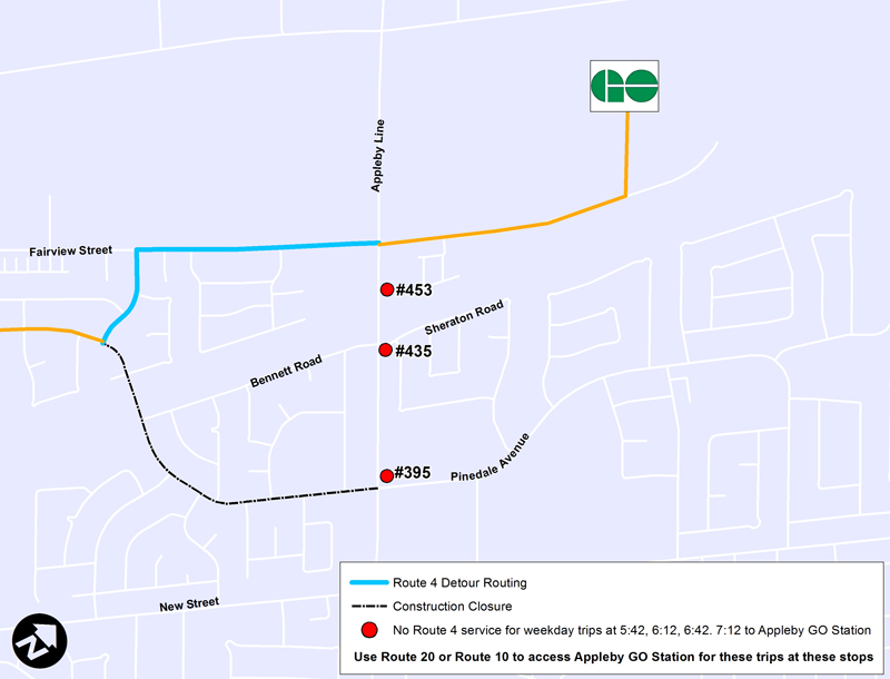 Route 4 - Limited weekday stops